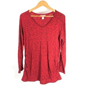 Great Expectations Maternity Red V-Neck Top 1280